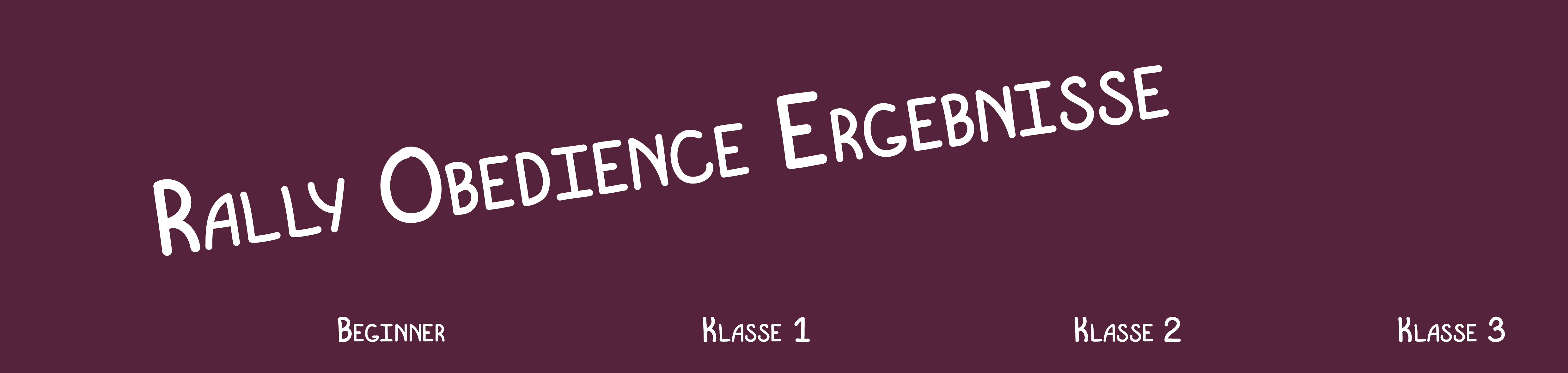 Rally Obedience-Ergebnisse